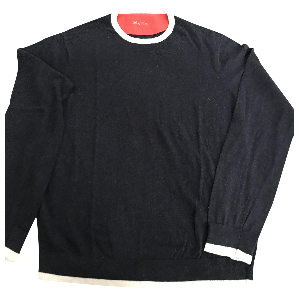 Henry Cotton \N Pullover.Westen.Sweatshirts  in  Blau Kaschmir
