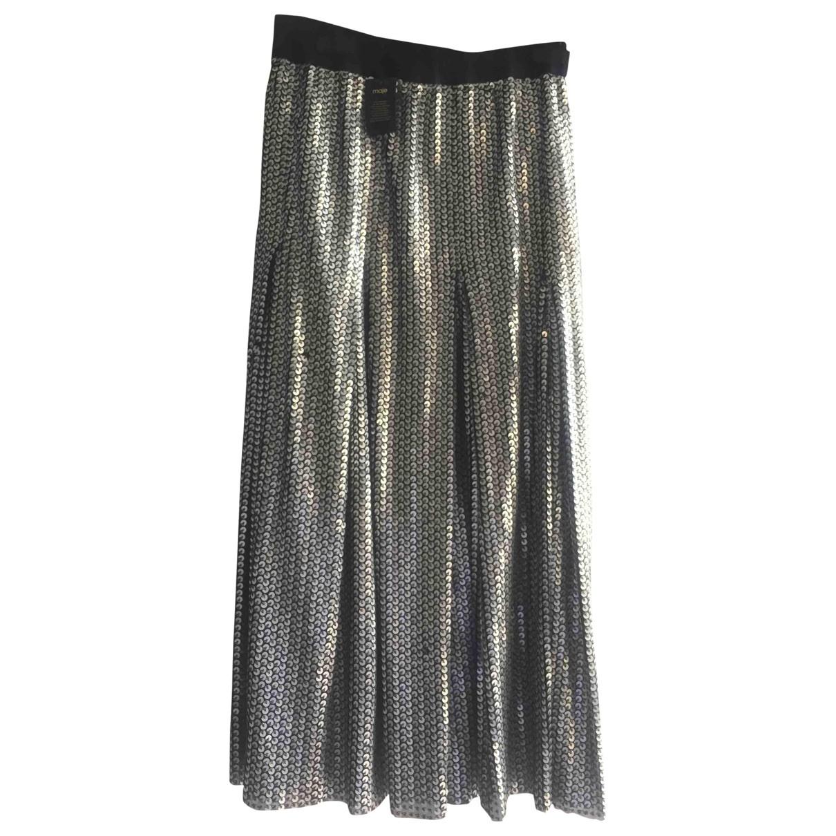 Maje \N Silver Glitter skirt for Women 36 FR