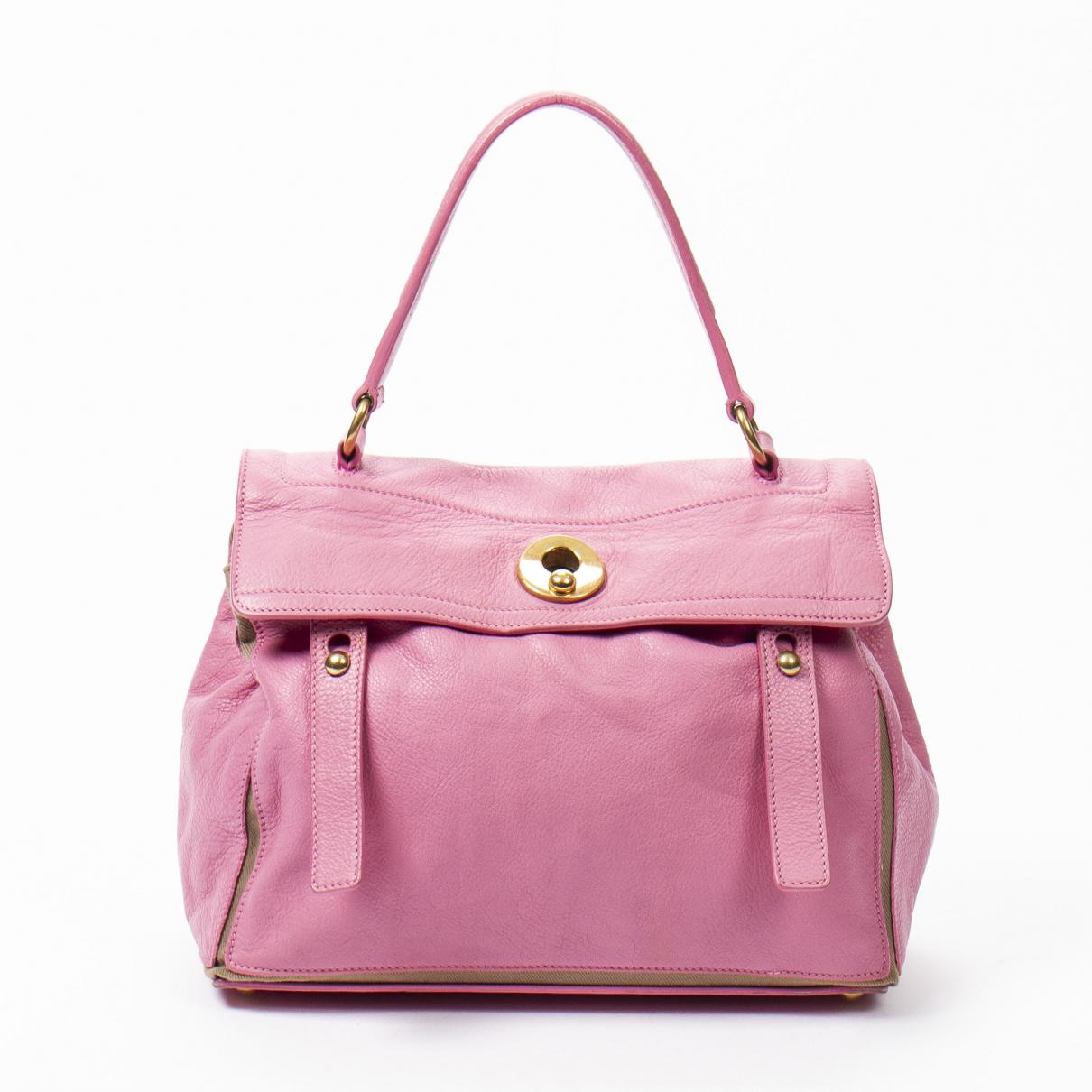 Yves Saint Laurent Muse Two Handtasche in  Rosa Leder