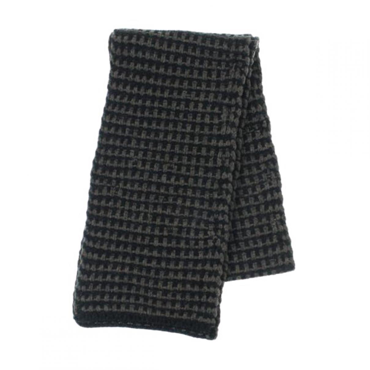 Dries Van Noten \N Schal in  Schwarz Wolle