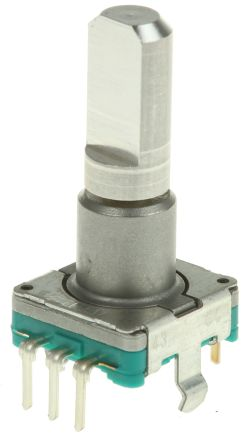 Alps Alpine Alps 15 Pulse Incremental Mechanical Rotary Encoder with a 6 mm Flat Shaft, Through Hole