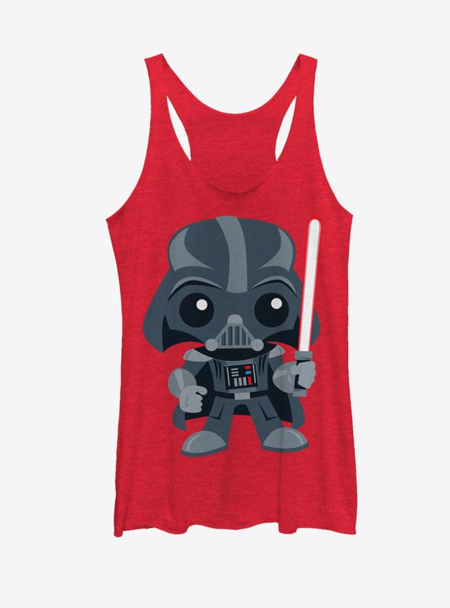 Star Wars Cute Cartoon Darth Vader Womens Tank