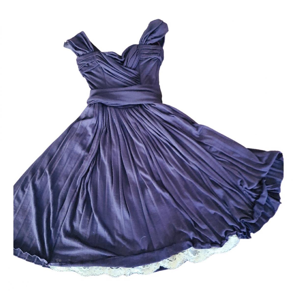 Dolce & Gabbana \N Kleid in  Lila Wolle