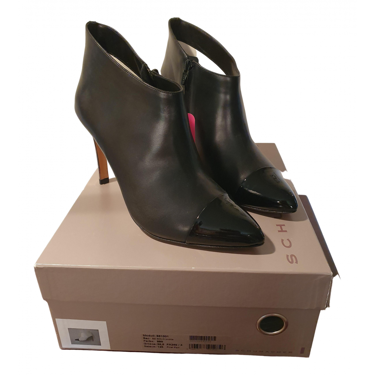 Dorothee Schumacher \N Black Leather Ankle boots for Women 38.5 EU