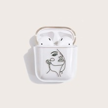 1pc Figure Graphic Clear AirPods Case