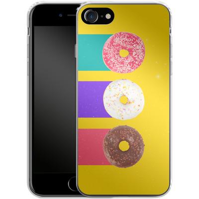 Apple iPhone 8 Silikon Handyhuelle - Donuts von Danny Ivan