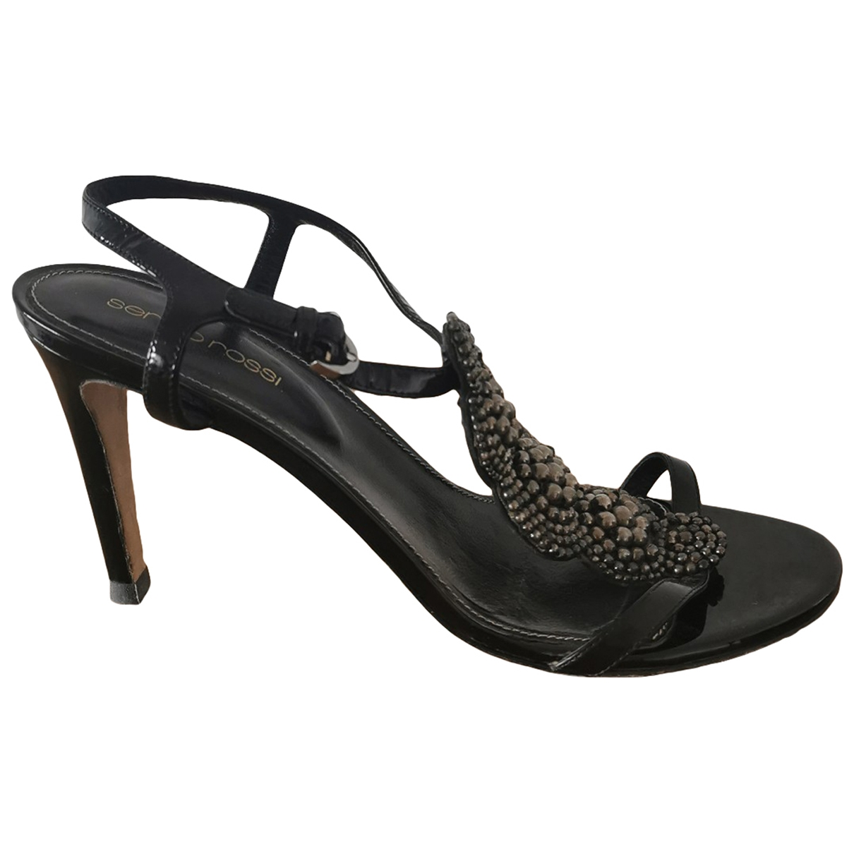 Sergio Rossi \N Black Patent leather Sandals for Women 39 EU