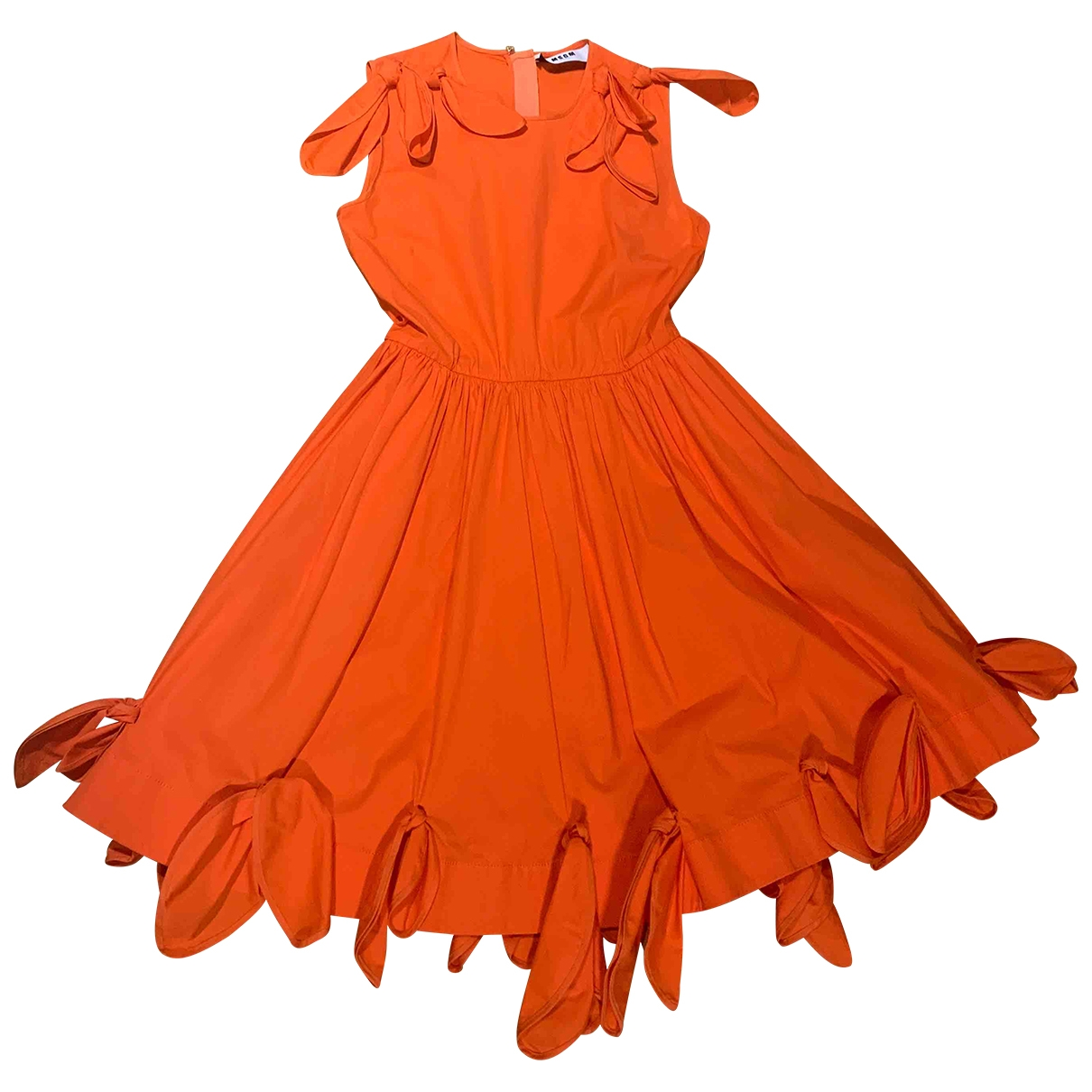 Msgm - Robe   pour femme en coton - elasthane - rouge