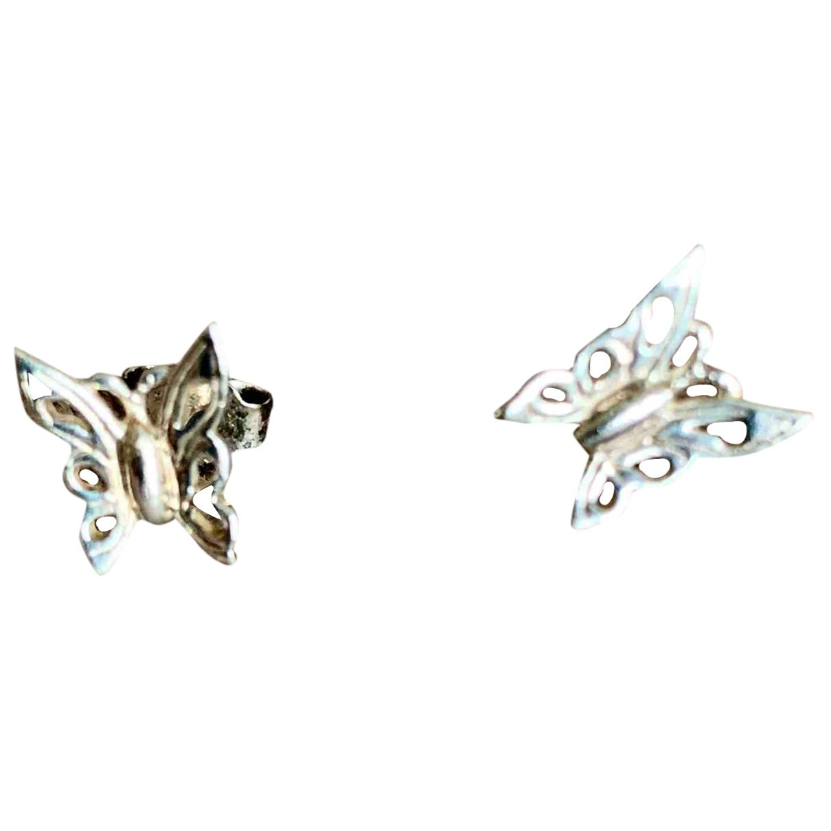 Non Signe / Unsigned Motifs Animaliers OhrRing in  Rosa Metall
