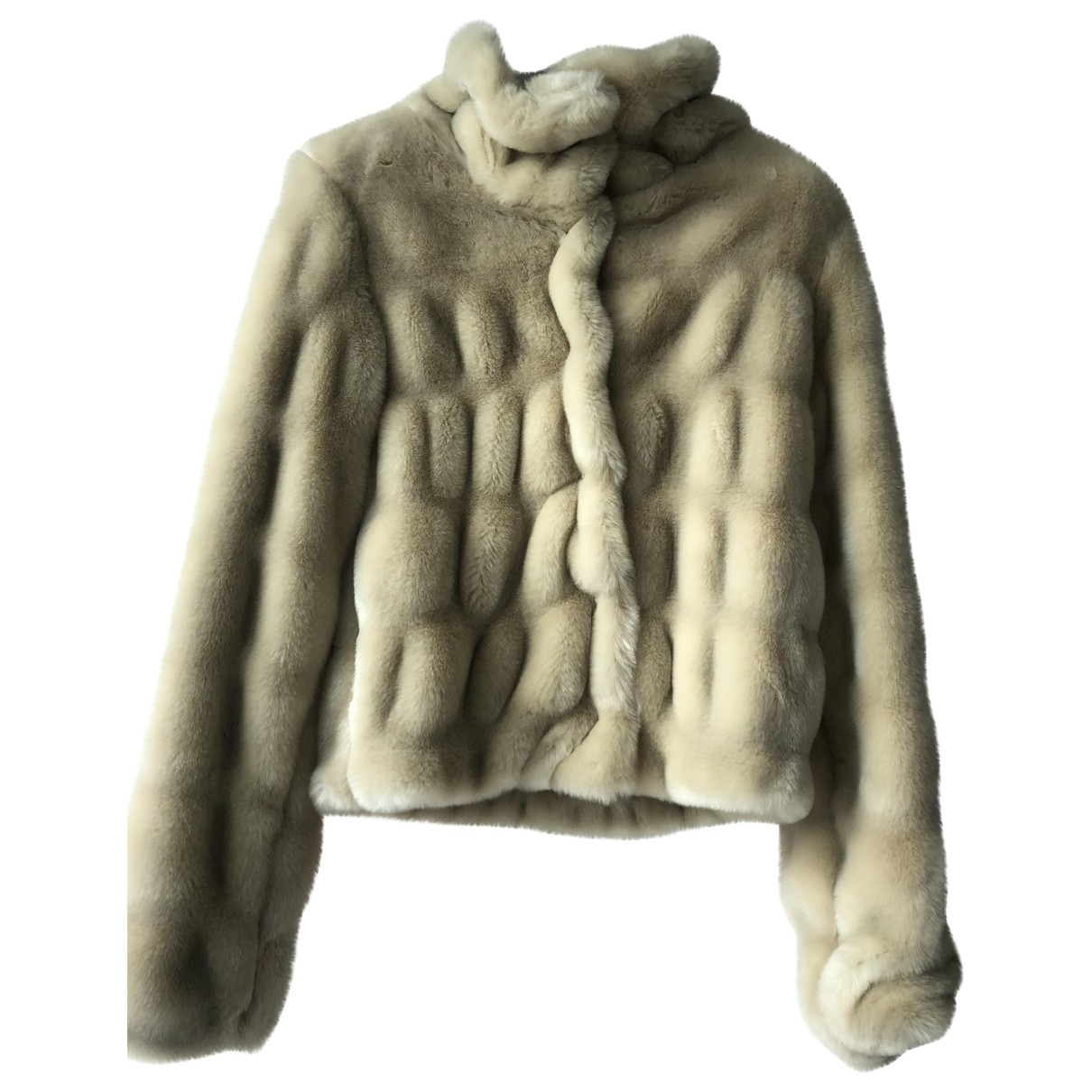 Non Signe / Unsigned \N Jacke, Maentel in  Beige Synthetikpelz