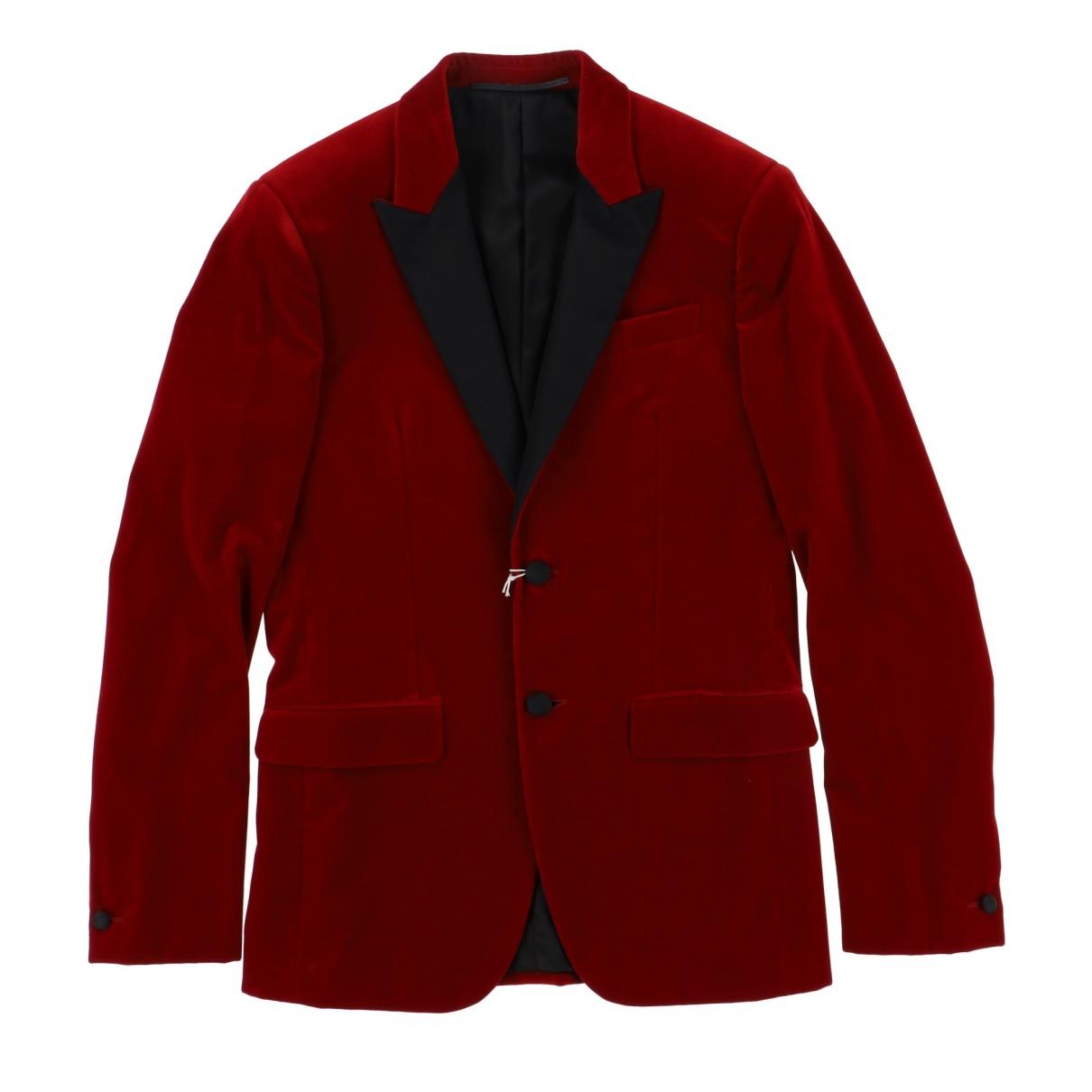 Givenchy - Vestes.Blousons   pour homme en velours - rouge