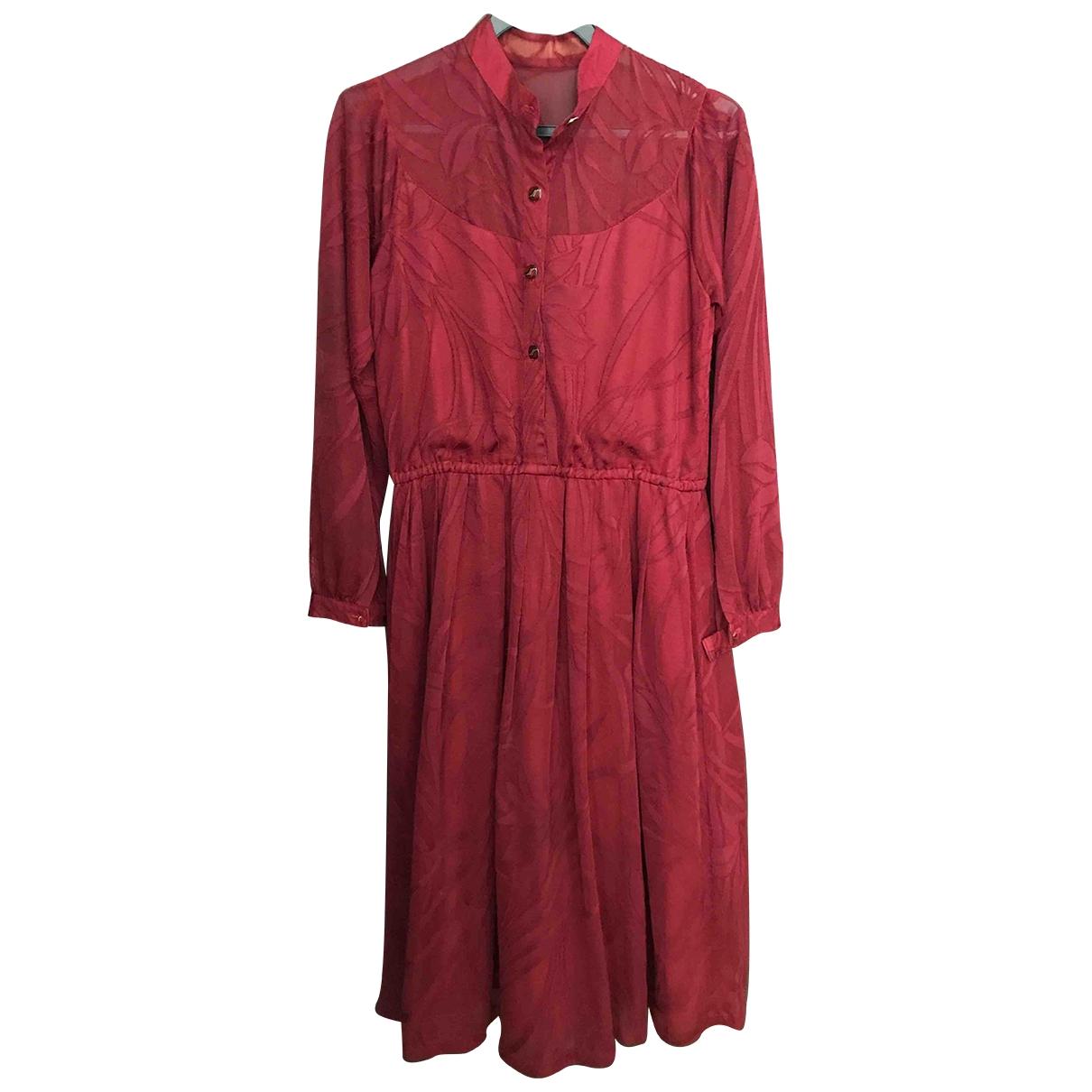 Non Signé / Unsigned \N Burgundy dress for Women M International