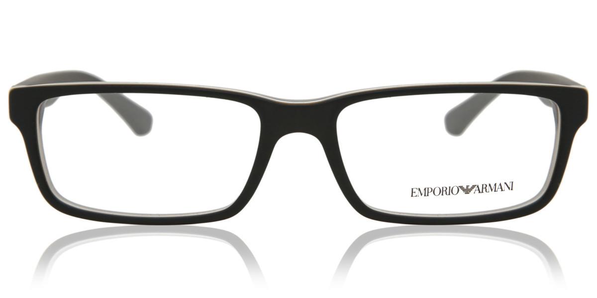 Emporio Armani EA3061 5390 Men's Glasses Black Size 53 - Free Lenses - HSA/FSA Insurance - Blue Light Block Available