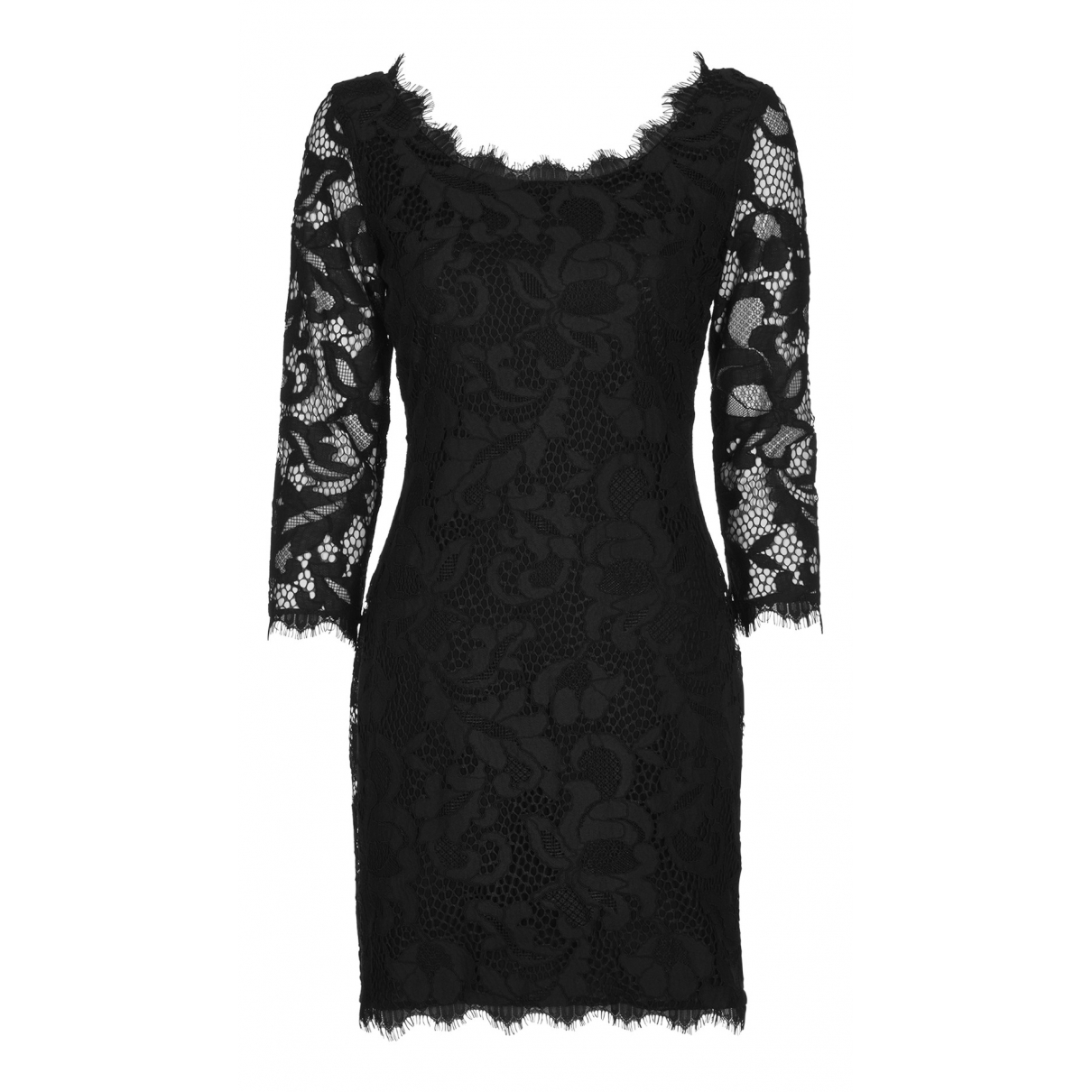 Diane Von Furstenberg - Robe   pour femme en coton - noir