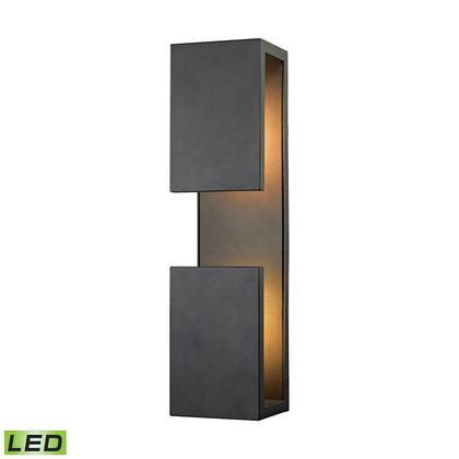 45232/LED Pierre LED Outdoor Wall Sconce in Textured Matte