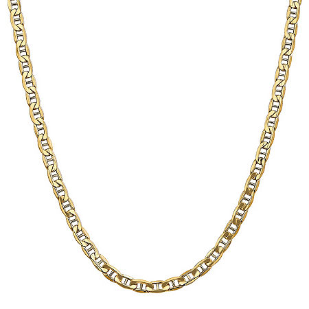 14K Gold 20 Inch Semisolid Anchor Chain Necklace, One Size , No Color Family