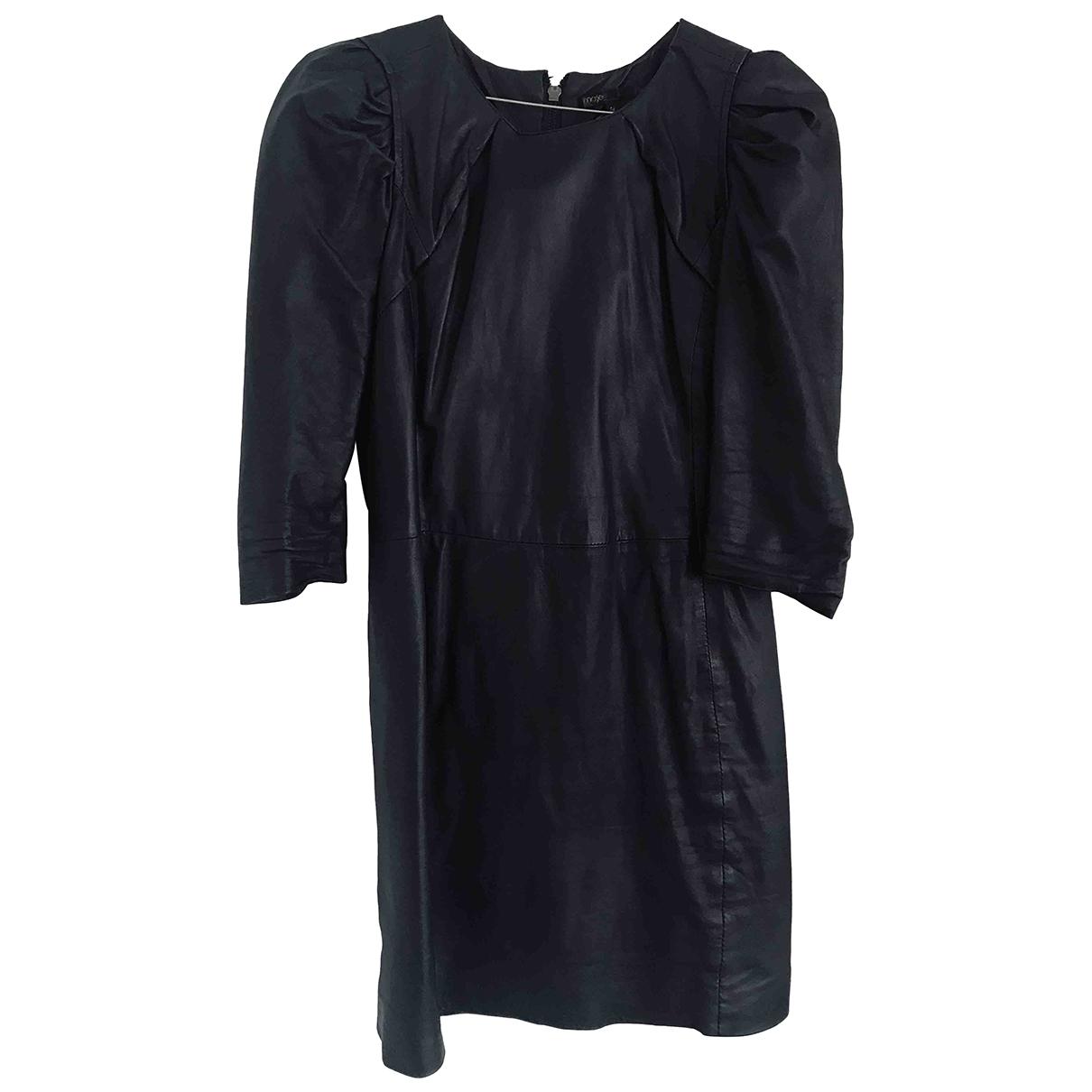 Maje - Robe   pour femme en cuir - bleu