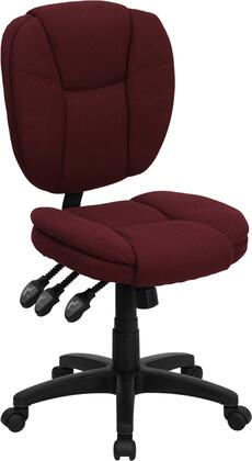 GO-930F-BY-GG Ergonomic Task Office Chair with Swivel Seat  Adjustable Height  Infinite-Locking Back Angle Adjustment  Triple Paddle Control