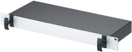 METCASE , 1U Rack Mount Case, 44.1 x 482.6 x 165mm, Black