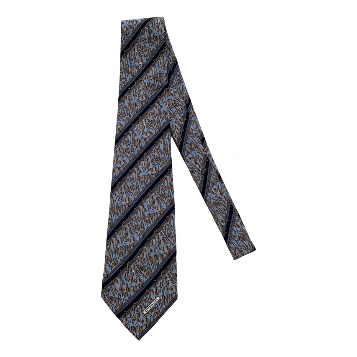 Givenchy \N Krawatten in  Blau Seide