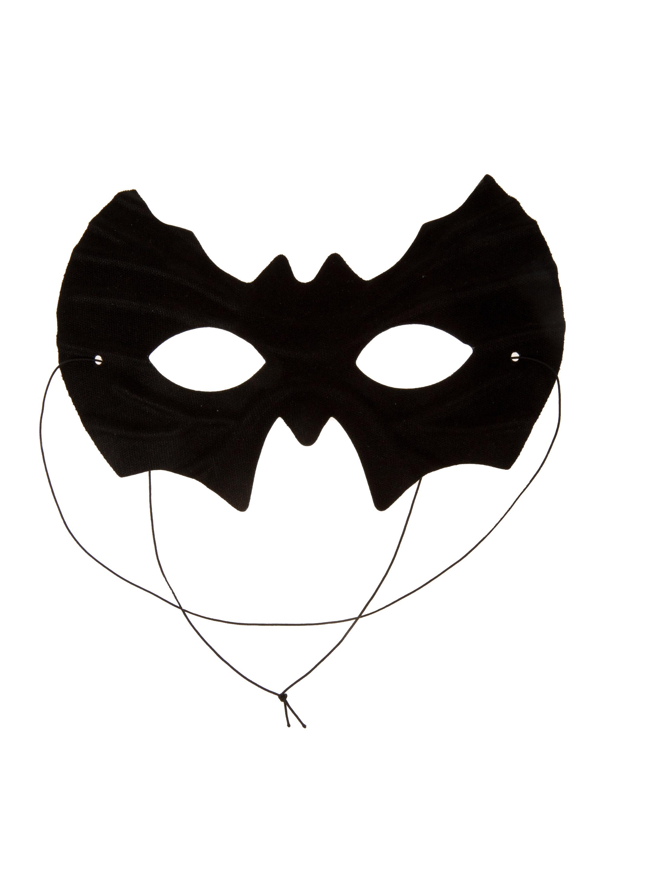 Kostuemzubehor Maske Fledermaus einfach schwarz