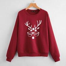Pullover mit Weihnachten Muster