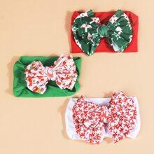 3pcs Baby Christmas Bow Headband