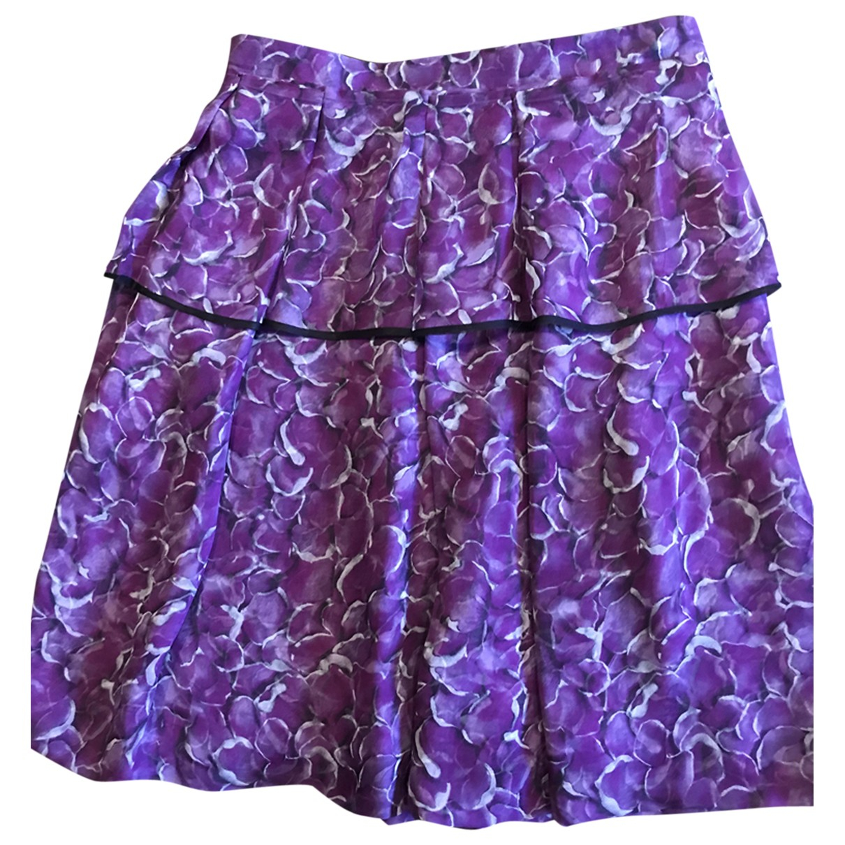Yves Saint Laurent - Jupe   pour femme en soie - violet