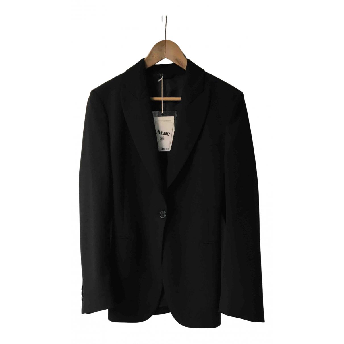 Acne Studios \N Black Wool jacket for Women 34 FR
