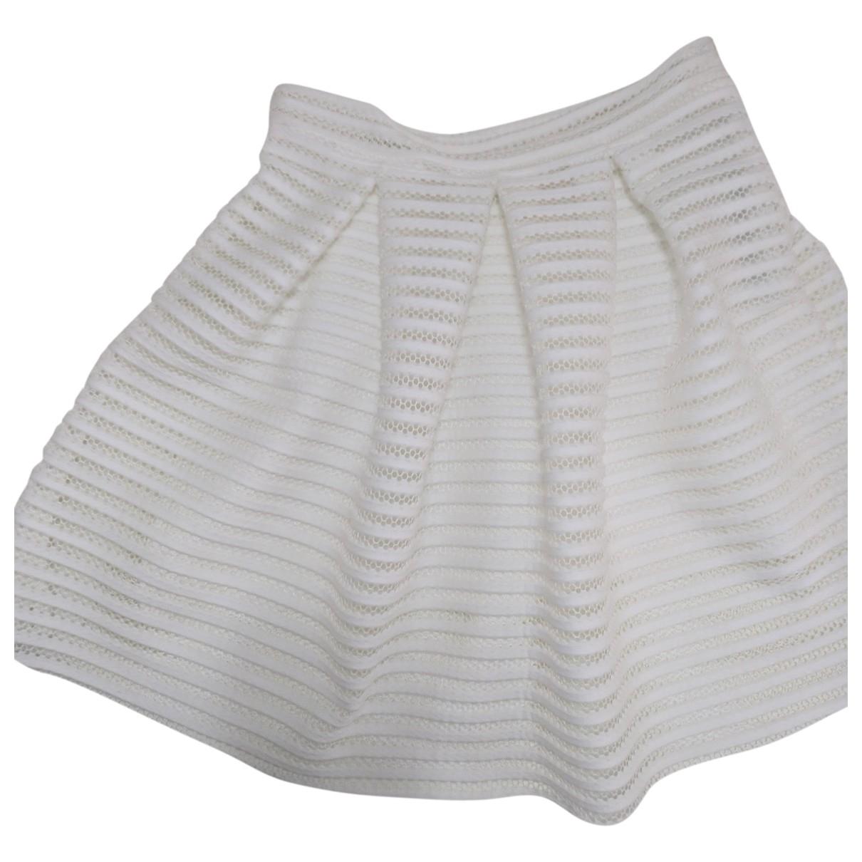 Non Signé / Unsigned \N White skirt for Women L International