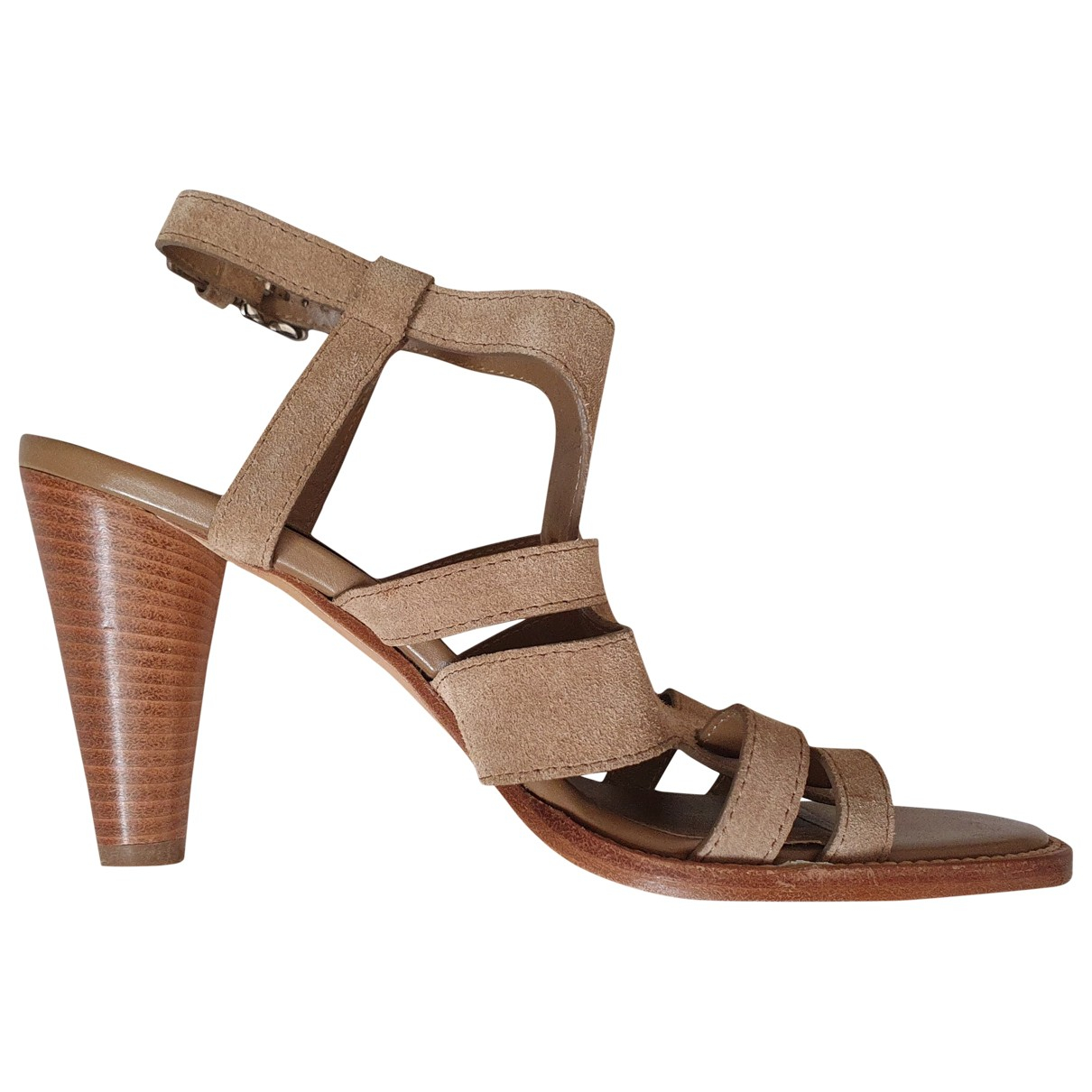 Tod's \N Beige Suede Sandals for Women 36 EU