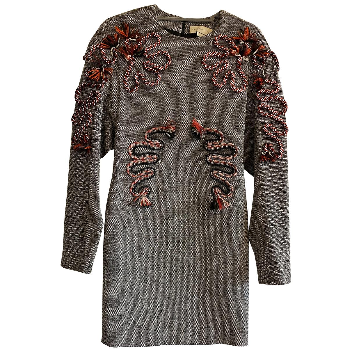 Stella Mccartney \N Kleid in  Grau Wolle