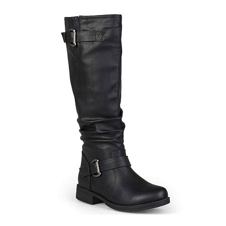 Journee Collection Womens Stormy Wide Calf Riding Boots, 8 Medium, Black