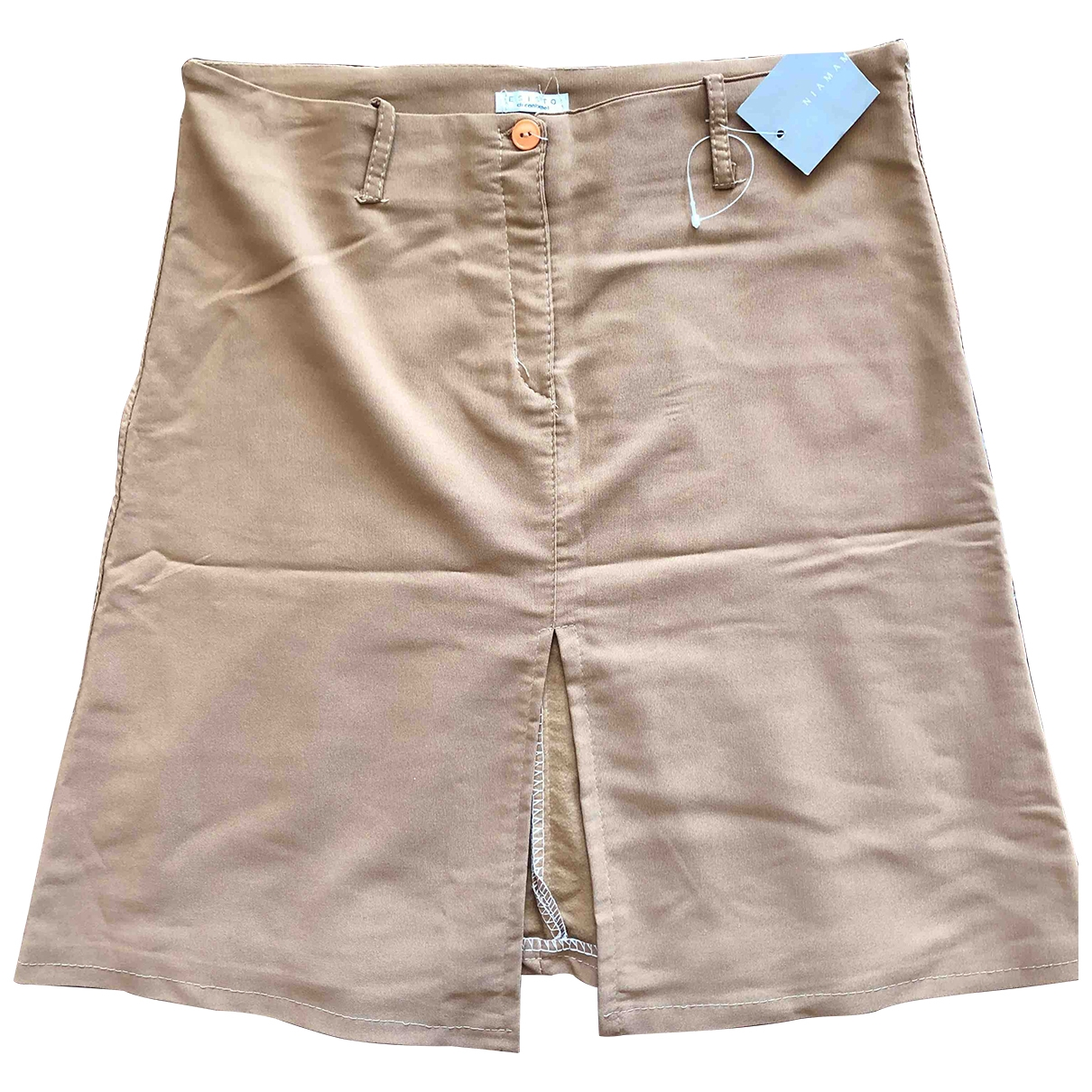 Non Signé / Unsigned \N Beige skirt for Women 46 IT