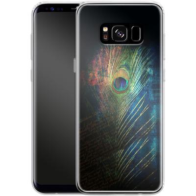 Samsung Galaxy S8 Silikon Handyhuelle - Peacock Feather von Mark Ashkenazi