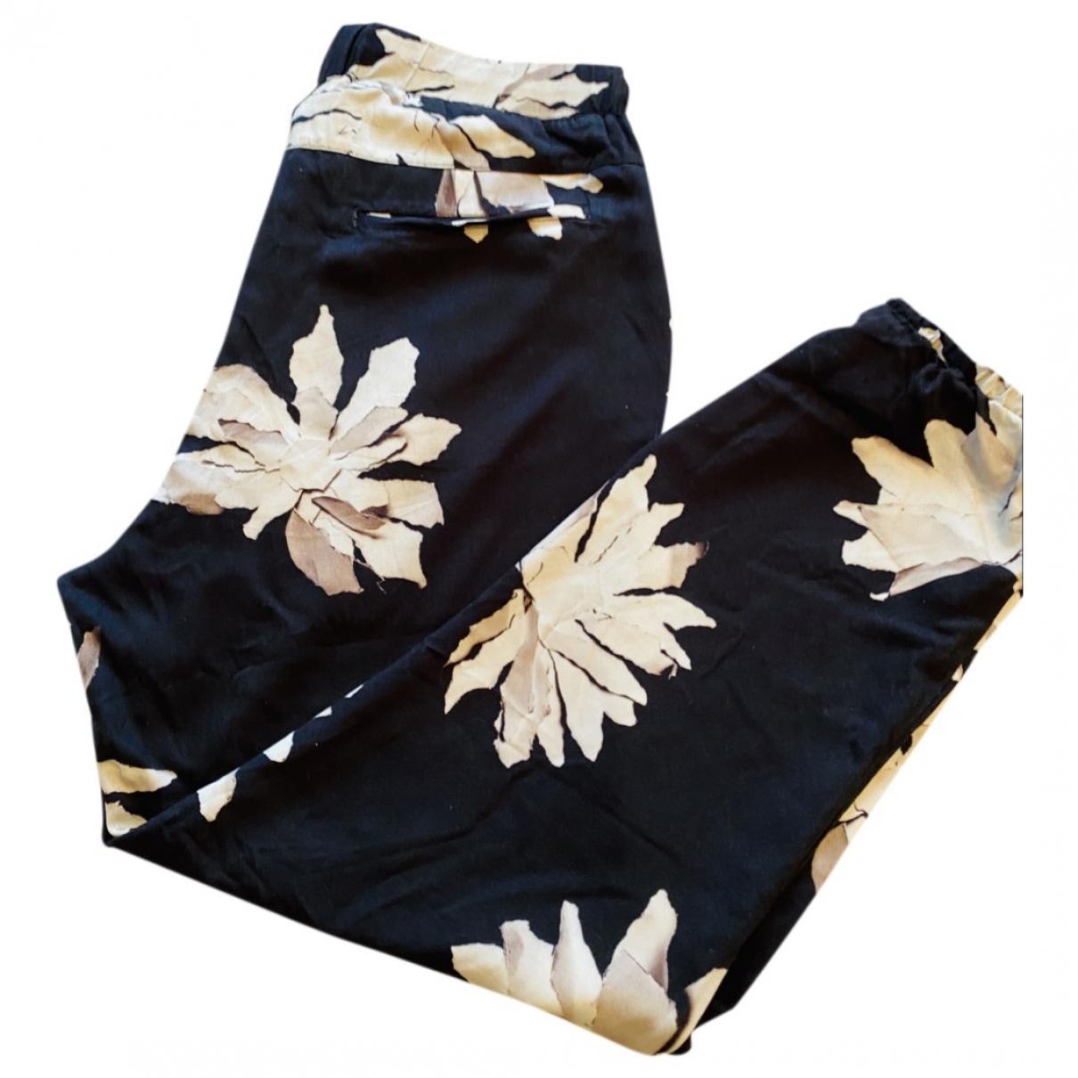 Pantalones Oversize en Viscosa Negro Non Signe / Unsigned