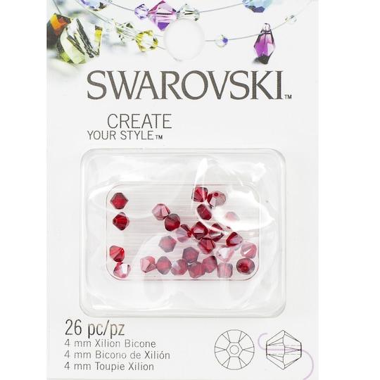 Swarovski™ Create Your Style™ Bicone Crystals, 4Mm By Swarovski Elements™ in Light Siam Satin | 4 mm | Michaels®