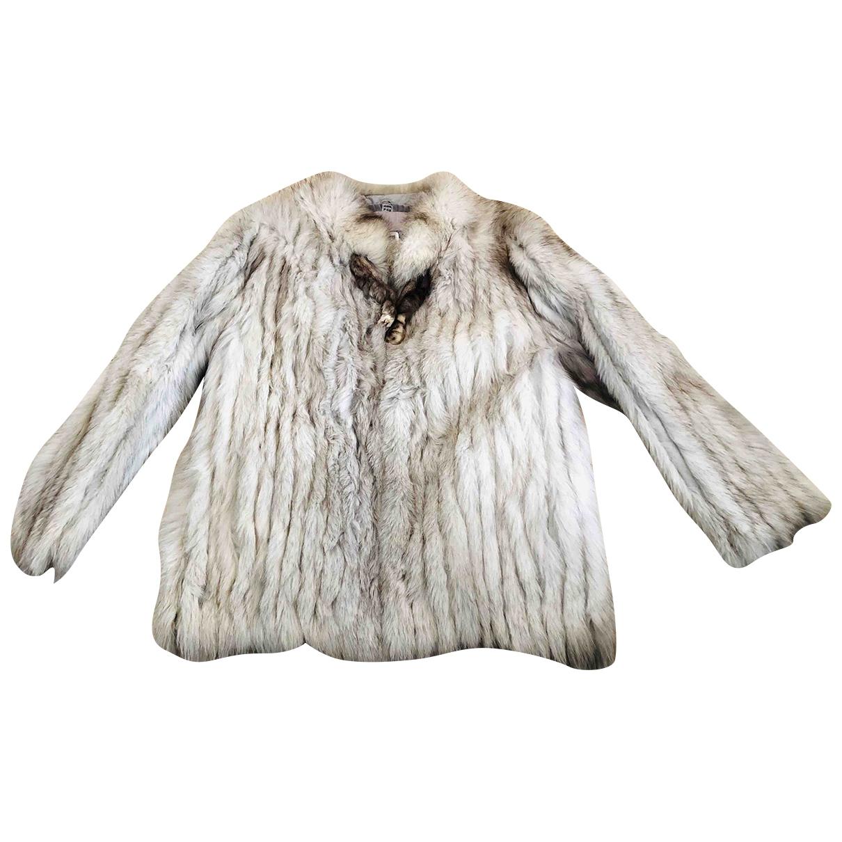 Saga Furs - Veste   pour femme en renard - blanc
