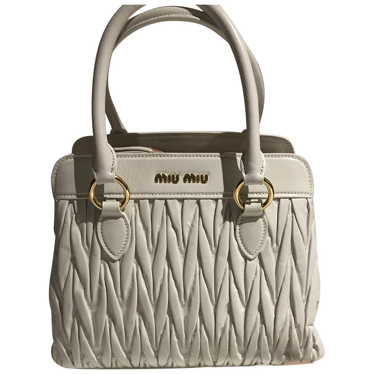 Miu Miu Matelassé White Leather handbag for Women \N