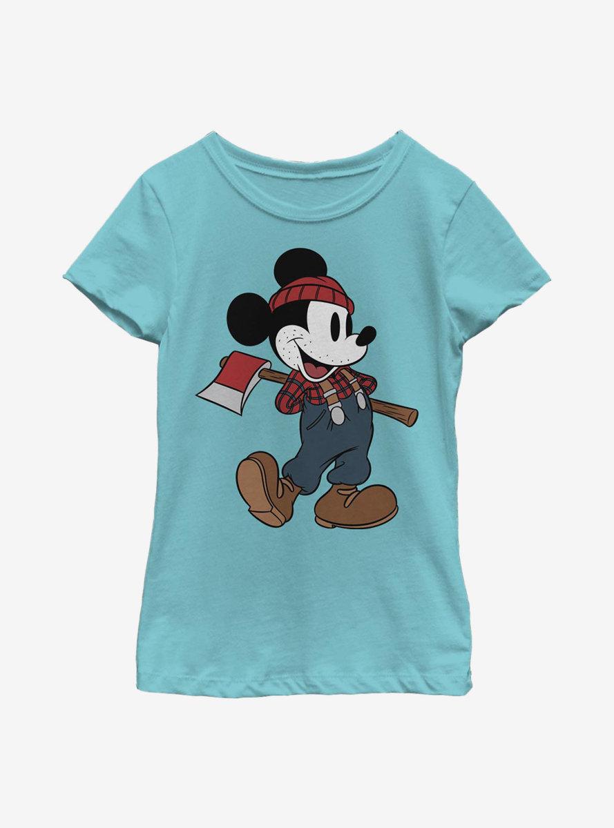 Disney Mickey Mouse Lumberjack Mickey Youth Girls T-Shirt