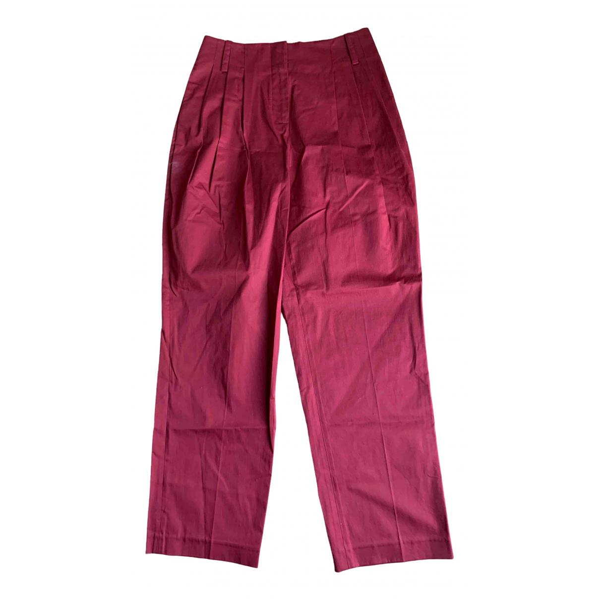 Diane Von Furstenberg N Red Cotton Trousers for Women 2 US