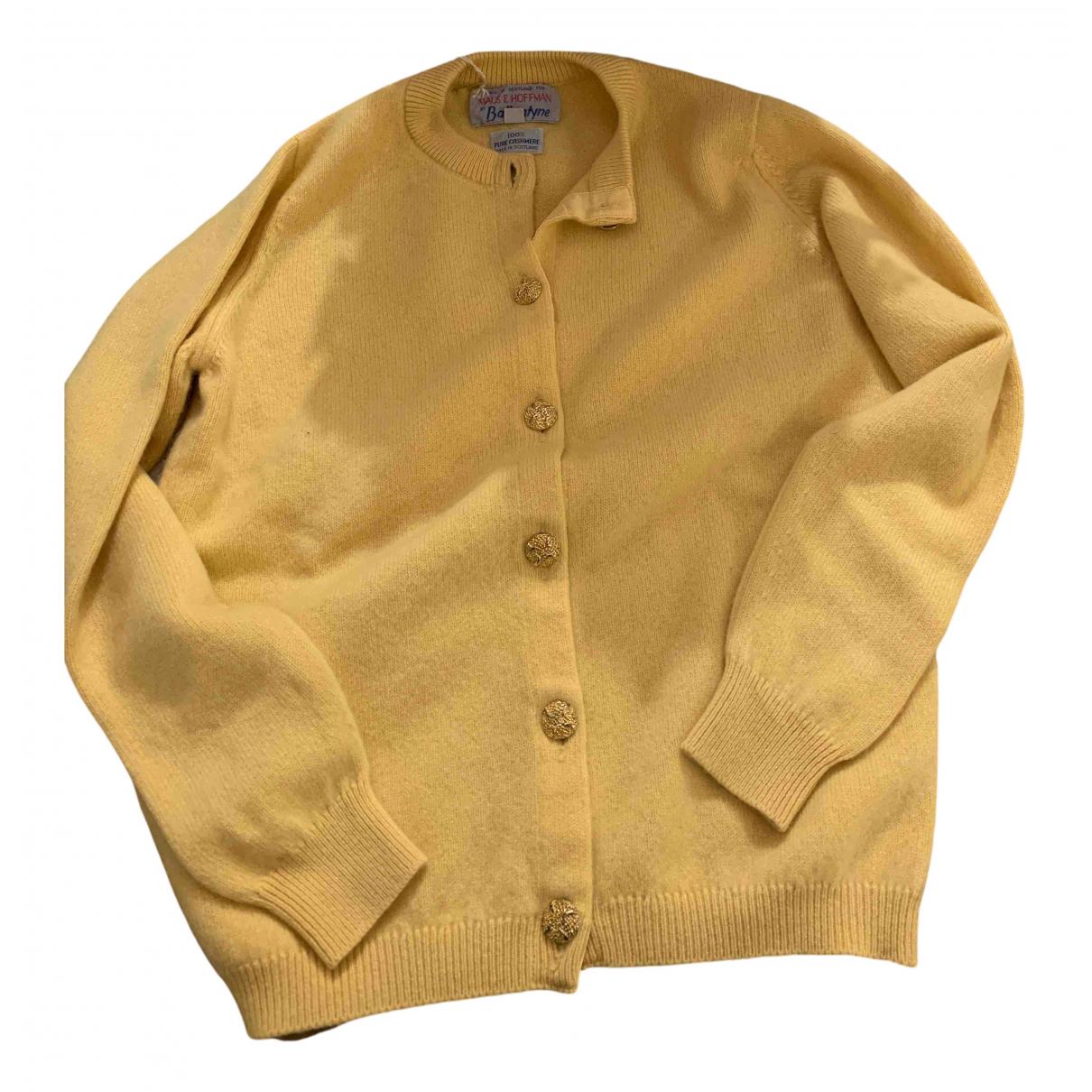 Ballantyne N Yellow Cashmere Knitwear for Women 42 IT
