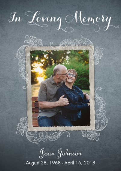 Sympathy Flat Glossy Photo Paper Cards with Envelopes, 5x7, Card & Stationery -In Loving Memory