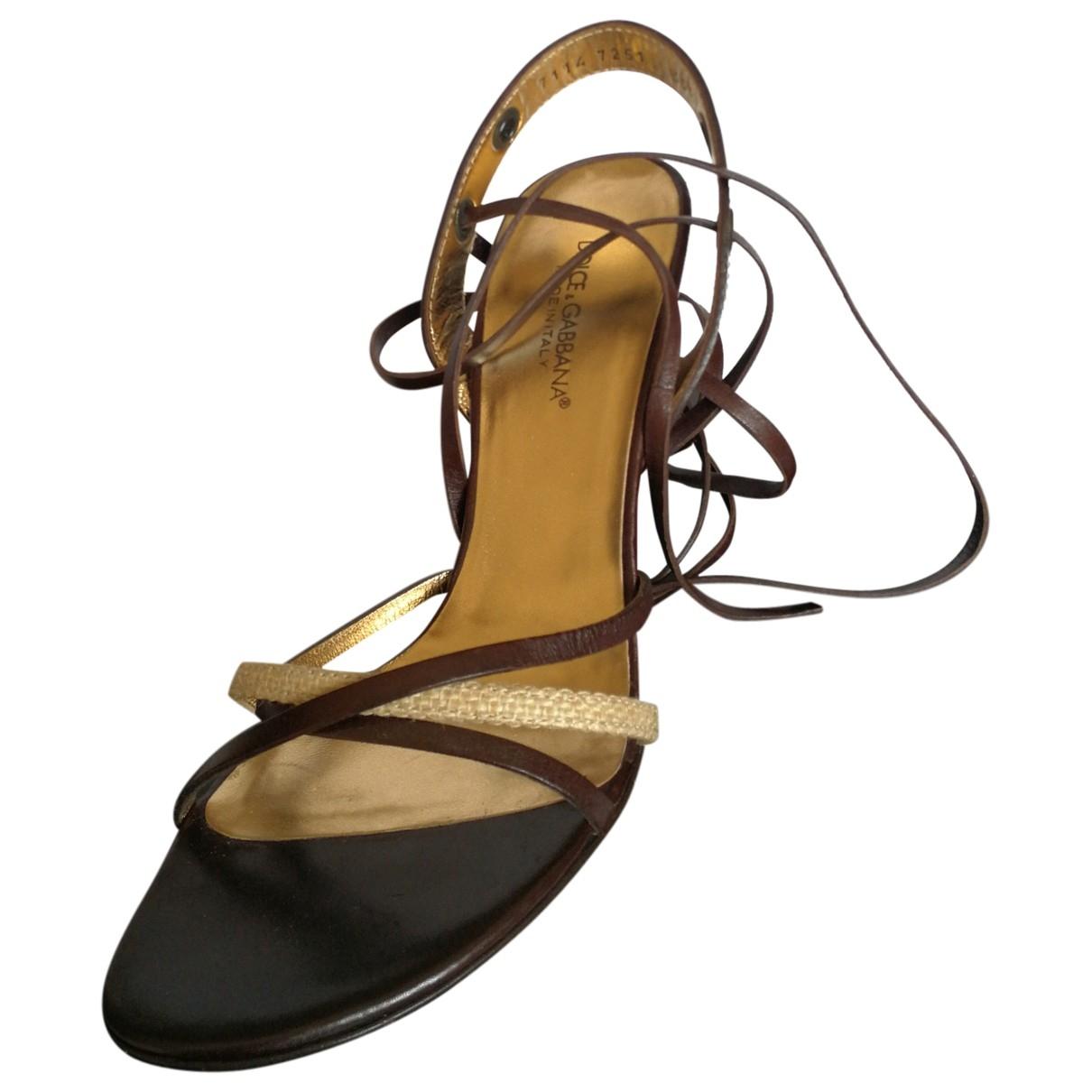 Sandalias romanas de Cuero Dolce & Gabbana