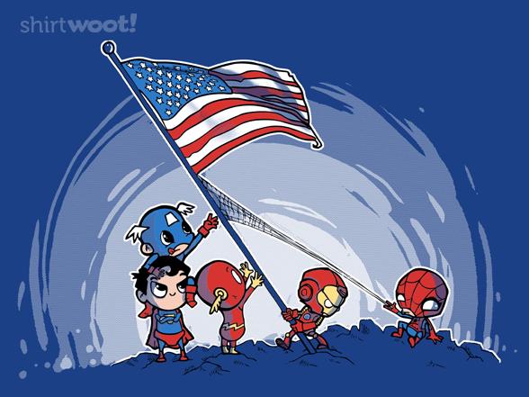Raising The Flag T Shirt