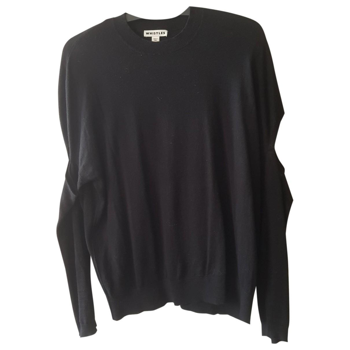 Whistles - Pull   pour femme en coton - noir
