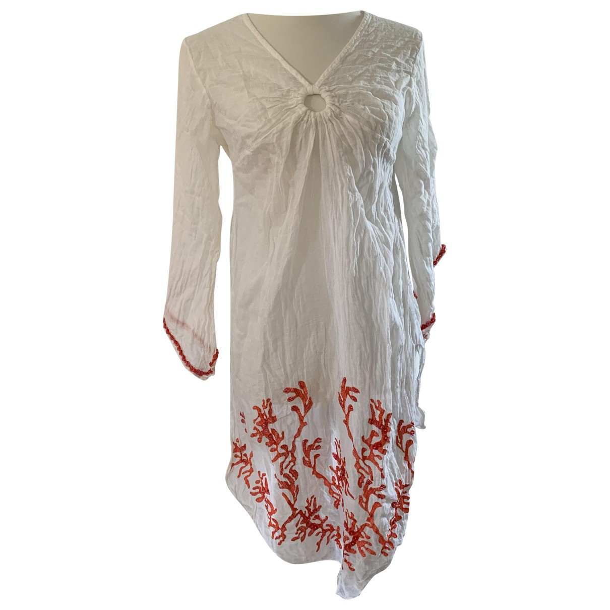 Non Signé / Unsigned \N White Cotton dress for Women S International
