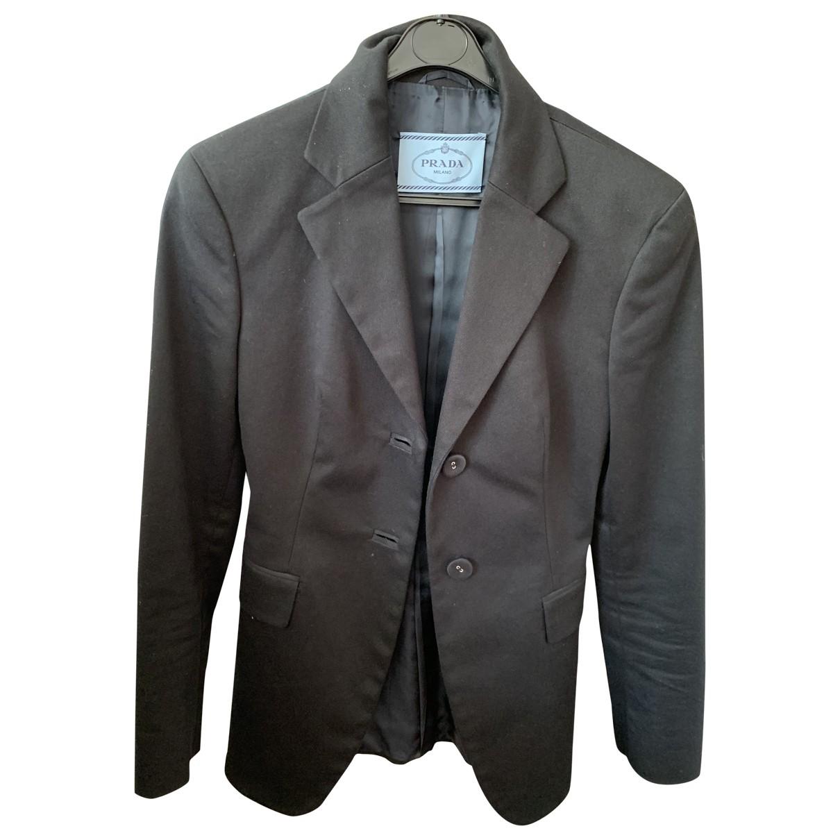 Prada \N Blue Cotton jacket for Women 38 IT