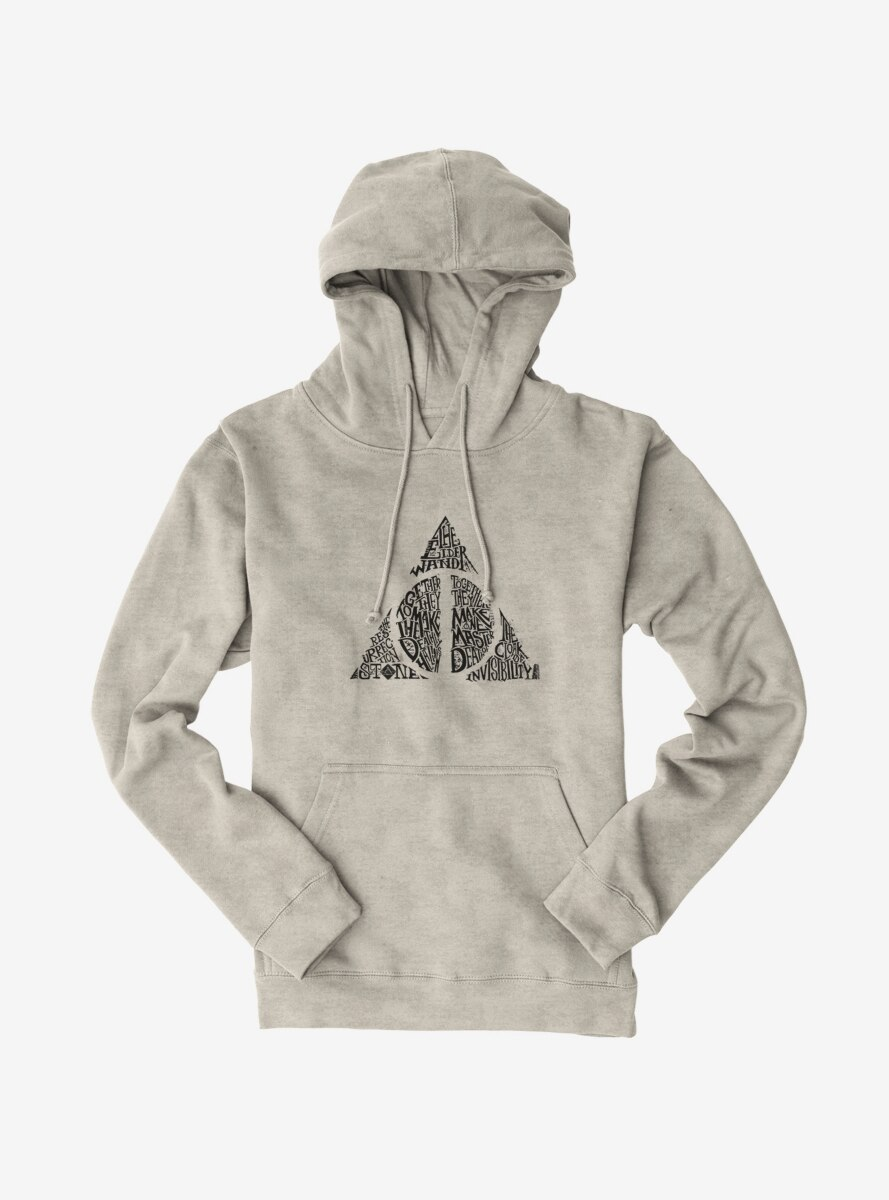 Harry Potter Deathly Hallows Script Hoodie