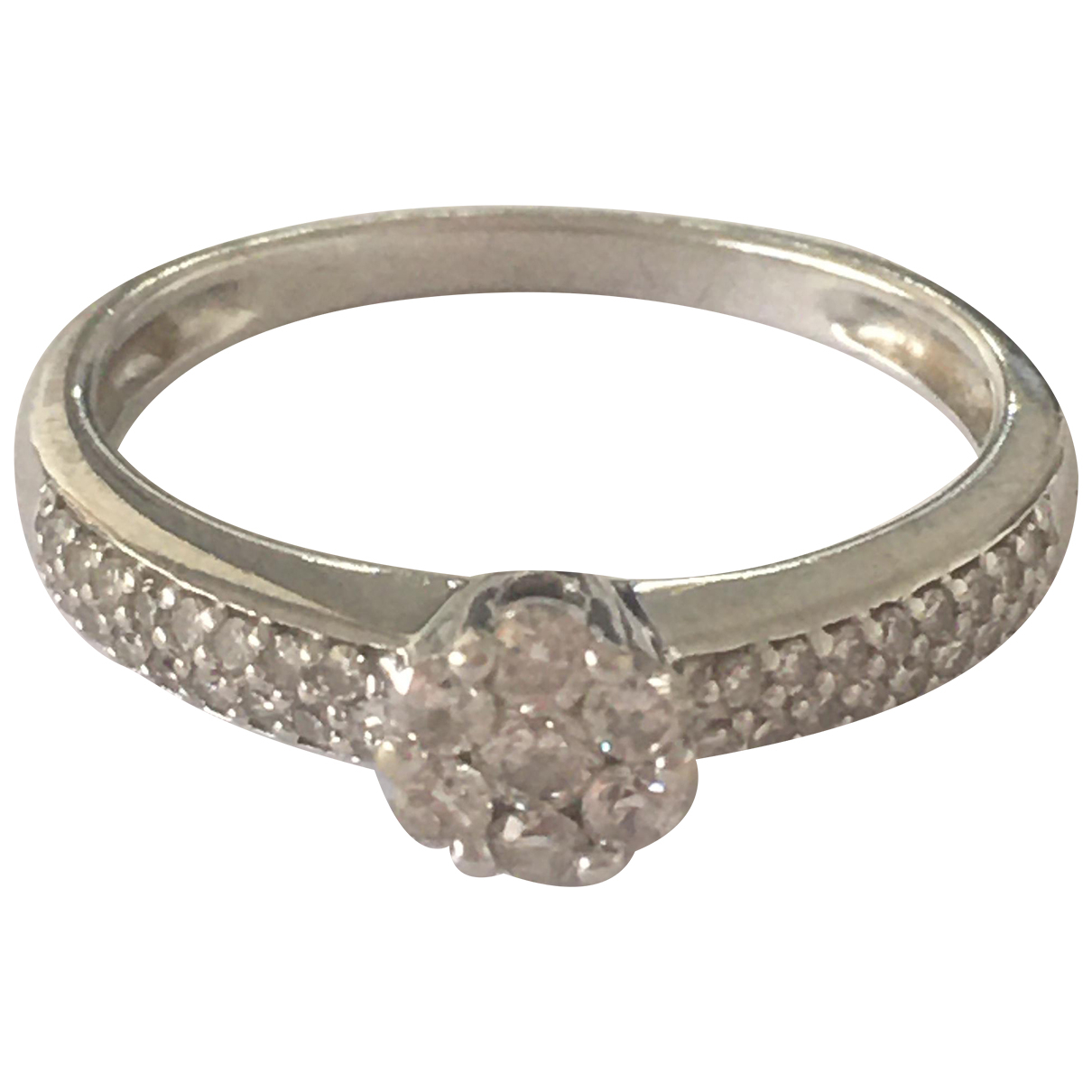 Non Signe / Unsigned Motifs Floraux Ring in  Silber Weissgold